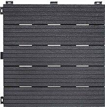 Ribiland PRGOMDJ101 Terrassenplatte 45x2cm Grau,