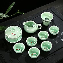 RIBLDG Celadon Teeservice Mit Teekanne Cup Hat