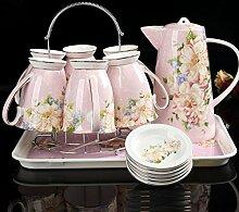 RIBLDG China Shuiju Wie Jug Hot Tea Cup Set