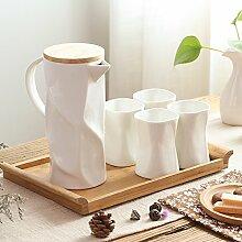 RIBLDG Wohnzimmer, Glas, Keramik, Nach Originalität, Einfache Persönlichkeit, 6 Becher, Europäischen Stil Familie Cup Gesetzt,B - Anzug,Tea Service, Coffee Se