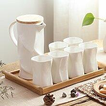RIBLDG Wohnzimmer, Glas, Keramik, Nach Originalität, Einfache Persönlichkeit, 6 Becher, Europäischen Stil Familie Cup Gesetzt,C - Anzug,Tea Service, Coffee Se