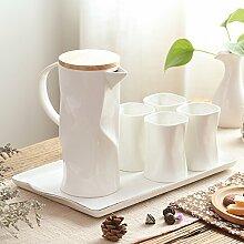 RIBLDG Wohnzimmer, Glas, Keramik, Nach Originalität, Einfache Persönlichkeit, 6 Becher, Europäischen Stil Familie Cup Gesetzt,D - Anzug,Tea Service, Coffee Se