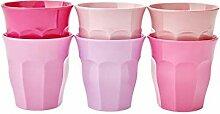 Rice Becher Melamin 6er Set 50 Shades of Pink -