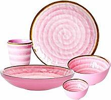 Rice DK Melamin-Geschirr-Set, 5-teilig, mit
