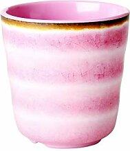 Rice Melamin Becher Keramik Look Frabe: rosa