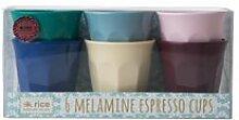 Rice Melamin Espresso-Becher 6er Set Urban Colors