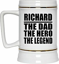 Richard The Dad The Hero The Legend - Beer Stein