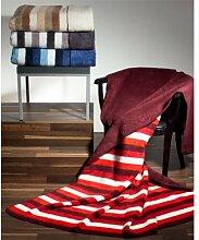 Richter Doubleface Decke Margot aus 100% Bio-Baumwolle 150x200 cm in sehr schönen Farbkombinationen, Blau