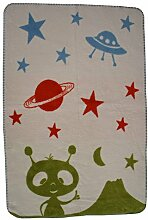 Richter Textilien Babydecke Marsmännchen 75 x 100