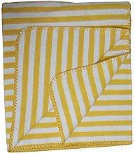 Richter Textilien Decke Banda 150 x 200 cm Bio-Baumwolle Mais/Natur