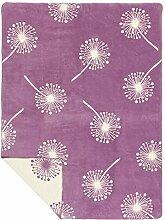 Richter Textilien Decke Pusteblume 150 x 200 cm Bio-Baumwolle Mauve