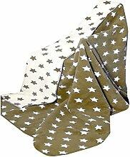 Richter Textilien Decke Sirius 150 x 200 cm Bio-Baumwolle Hermelin/Natur