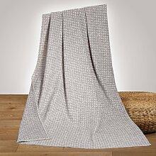 Richter Wolldecke Leontine aus 100 % Bio-Baumwolle 150x200 cm in Grey/Natur