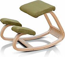 Richtig Der Stuhl Massivholz Kind Lernen Studie Schreiben Haushalt Richtige Sitzhaltung Wirbelkörperkorrektur Yoga Stuhl 50 Zentimeter Hohe Lila / Rot / Blau / Weiß ( Farbe : Grün )