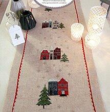 Rico Design Häuser-Set Tischläufer Mischgewebe,
