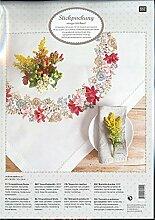 Rico Design Herbst Blumen Kit Stoff, Polyester, mehrfarbig