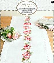 Rico Design Kranz mit Rosen-Set Tischläufer, Polyester, mehrfarbig