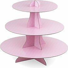 Rico Design Simplydeko Cupcake Etagere Rosa Weiß