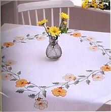 Rico-Design Stickpackung Tischdecke Blumenkranz, Kreuzstich vorgezeichne