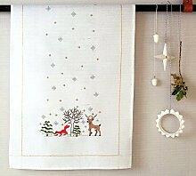 Rico Design Winter Forest Kit Tischläufer, Polyester Baumwolle, mehrfarbig