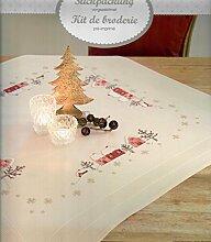 Rico Mitteldecke Weihnachten - vorgezeichnet - zum Sticken - Komplettpackung - NEU Design.25903.00.18