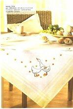 Rico Tischdecke zum Sticken 90 x 90 cm weiß gelb