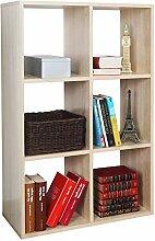 RICOO Bücherregal mit 6 Fächern Standregal