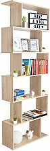 RICOO Bücherregal Raumteiler Standregal 192x70x25