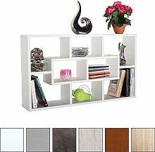 RICOO Wandregal WM050-W Holz Hell Weiß | Mini