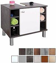 RICOO Waschbeckenunterschrank WM100-G-W Badschrank