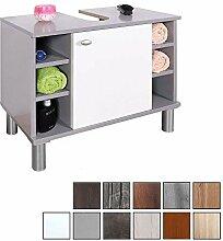 RICOO Waschbeckenunterschrank WM100-PL-W