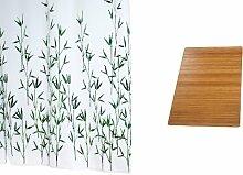 RIDDER 497010-350 Duschvorhang Set Bambus