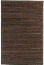 Ridder 7960338 Holzvorleger, Bambusmatte ca. 60 x 90 cm, Tropica dunkelbraun