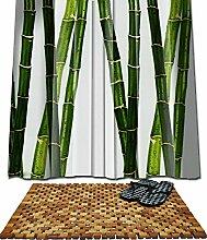 RIDDER Set Badematte Holz 80x50 +