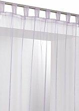 RideauDiscount Schlaufenvorhang, transparent, 140