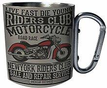 Riders Club Amerikanisches Motorrad Edelstahl