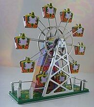 Riesenrad-Retro-Blechdose mit Uhrwerk zum
