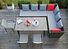 riesige Garten Sitzgruppe Lounge mit Esstisch