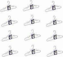 Riesige Kleiderbügel – 12 Stück – weiße