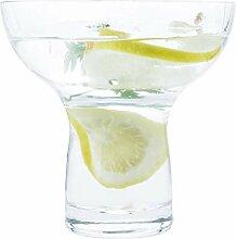 Riesige Margarita-Gläser ohne Stiel, dickes Glas,
