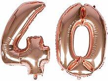 Riesiger Luftballon in Roségold-Folie, 40 Zoll