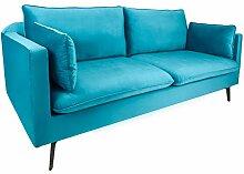 Riess Ambiente Design 3er Sofa Famous blau 210cm