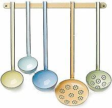 Riess - Emaille - Set Küchentools + Küchenleiste