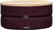 RIESS Vorratsdose KIMA, Frischhaltedose, Aufbewahrungsdose, mit Deckel Ø 13 cm , 615 ml , aubergine