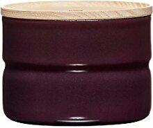 RIESS Vorratsdose KIMA, Frischhaltedosen, Aufbewahrungsdose, mit Deckel, Ø 8 cm, 230 ml, Höhe: 6 cm, aubergine