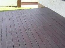 Riffelbohle / Stegbohle Terrassenbelag mit Nut und Feder aus Recyclingkunststoff 1/Stck  ,Länge mm:1000 ,Breite mm:170 ,Dicke mm:40