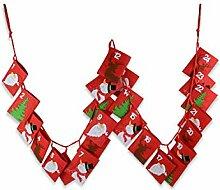 Riffelmacher Adventskalender Säckchen rot zum