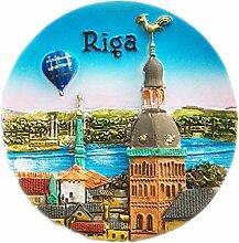 Riga Lettland Kühlschrankmagnet 3D Harz