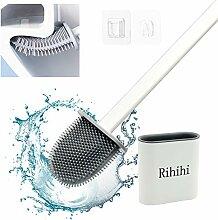 Rihihi Silikon-WC-Bürste und Halter,