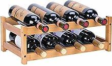 Riipoo Weinregal für 8 Flaschen, 2-stöckig, aus